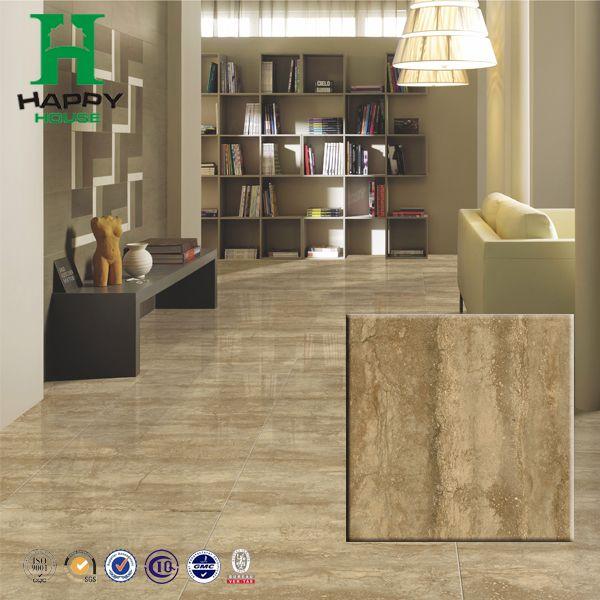 Dark Color Marble Look Porcelain Tile Size 600x600mm 800x800mm Brown Living Room Living Room Flooring Marble Colors