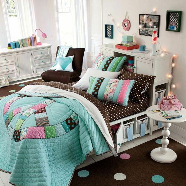 bett schlafzimmer teenager frische dekokissen Deko Zimmer - dekoration schlafzimmer selber machen