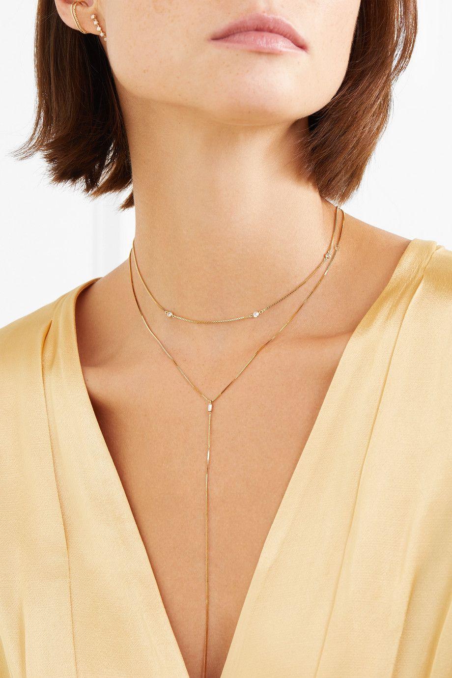 Loren Stewart Fairy Floss 9-karat Gold Diamond Choker Y3rWFjTV3Y