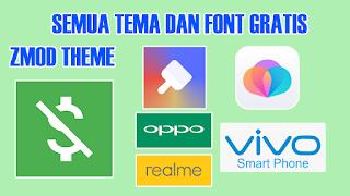 Begini Cara Menggunakan Zmod Apk Untuk Tema Dan Font Gratis Vivo Oppo Realme Di 2021 Font Gratis Aplikasi Smartphone