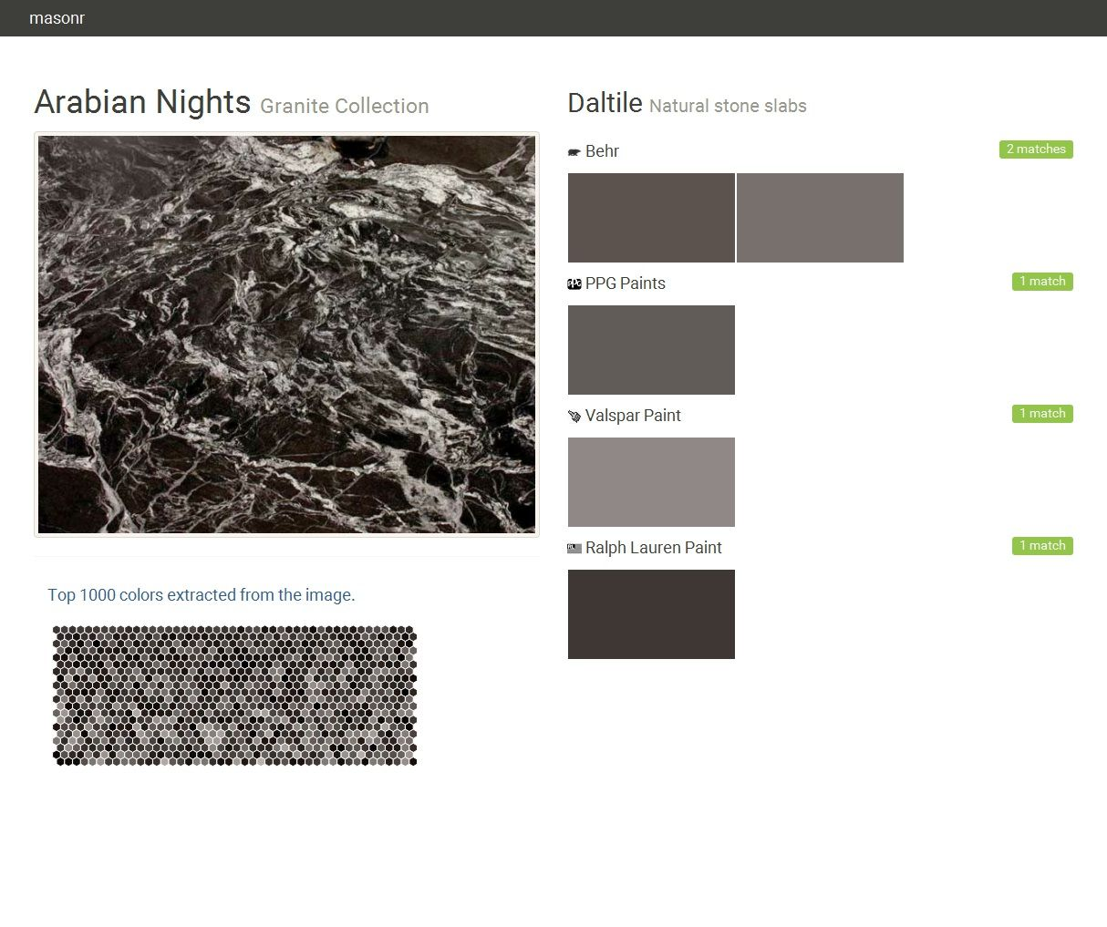 arabian nights. granite collection . natural stone slabs. daltile