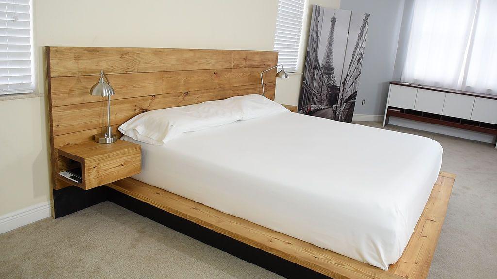 Diy Platform Bed With Floating Night Stands Wood Bed Frame Diy