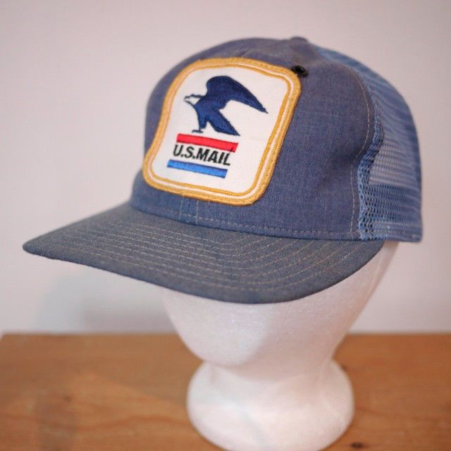 aa3c486553d Vtg US MAIL USPS Mail Carrier Embroidered Patch Mesh Trucker Cap Hat M  Adjust  Trucker