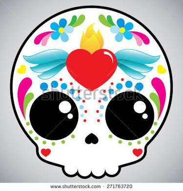 Calavera de azucar skull candy halloween Pinterest Kawaii