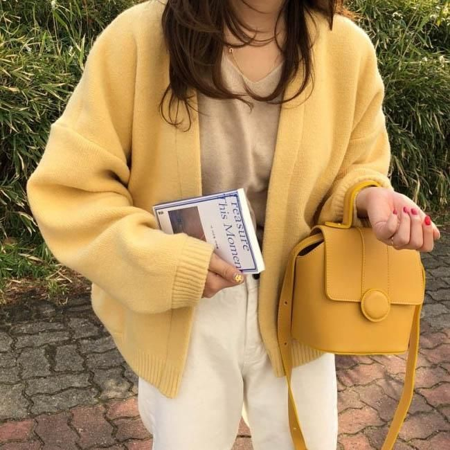Mango Mousse Cardigan #yellowaesthetic