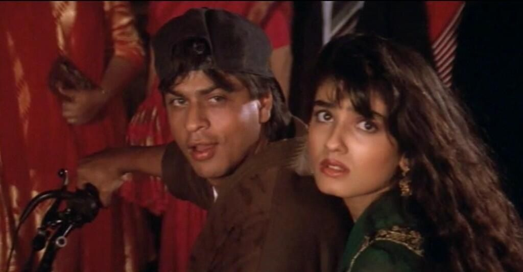Image result for shahrukh raveena