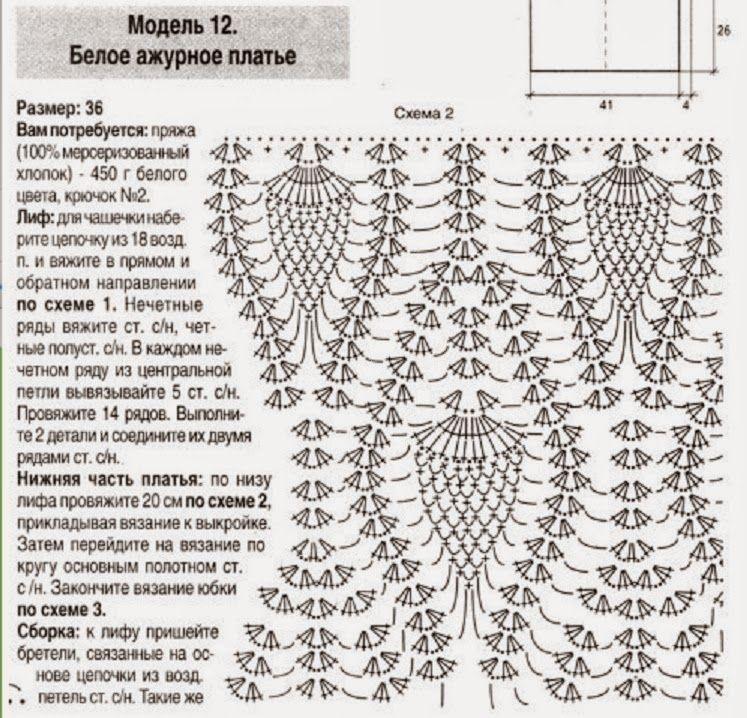 As Receitas de Crochê: Vestido de crochê frente única