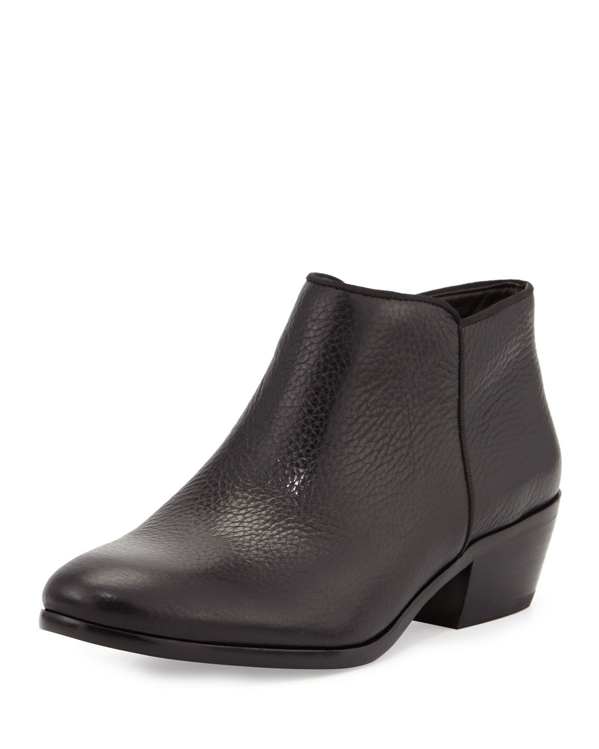 1dbbd152cc0555 Petty Leather Ankle Bootie