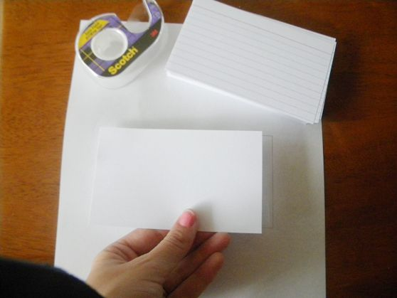 print index cards