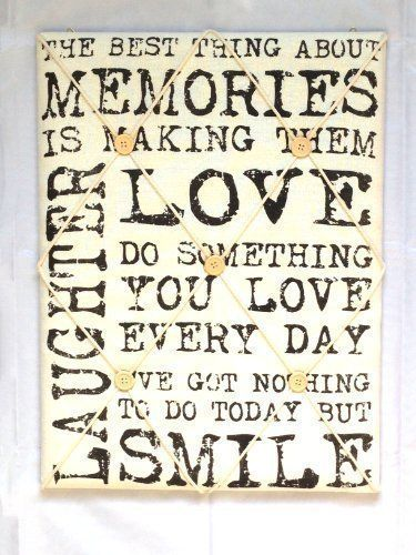 Vintage Quote Padded Notice Pin Fabric Memo Board White With Black