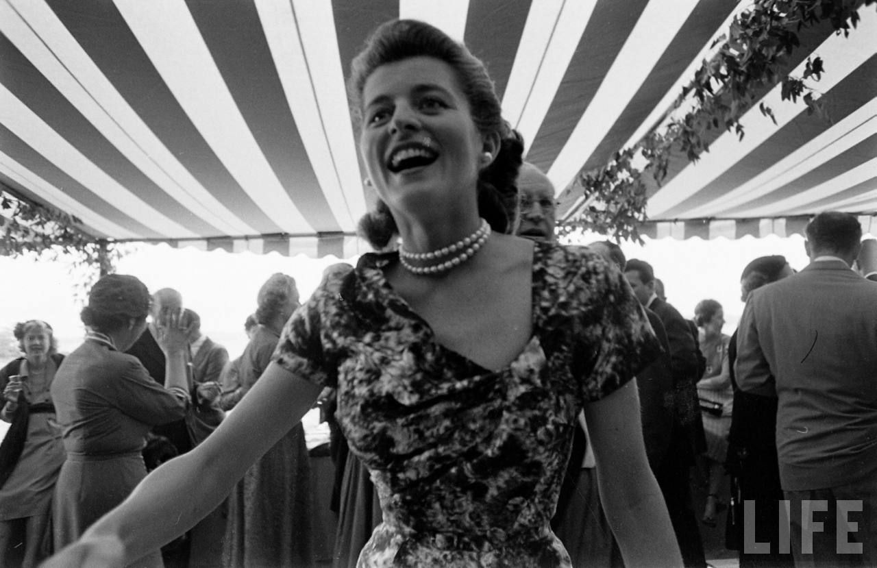 Patricia Kennedy With Wedding Cake On Her Dress. JFK And