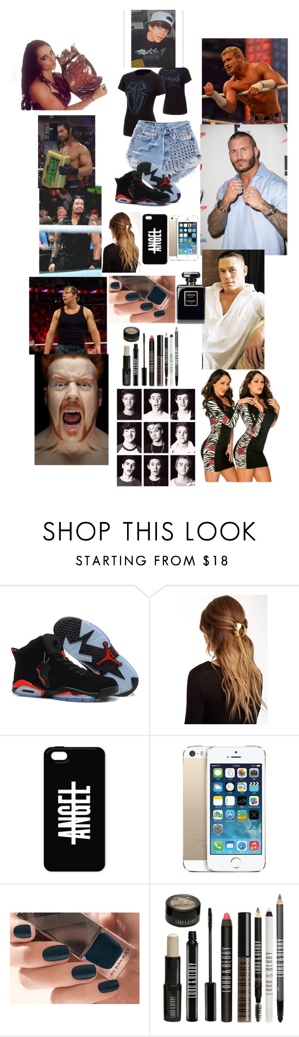 """Wwe with the Boys"" by grier2000 ❤ liked on Polyvore featuring WWE, Champion, CENA, France Luxe, Burberry and Lord & Berry"
