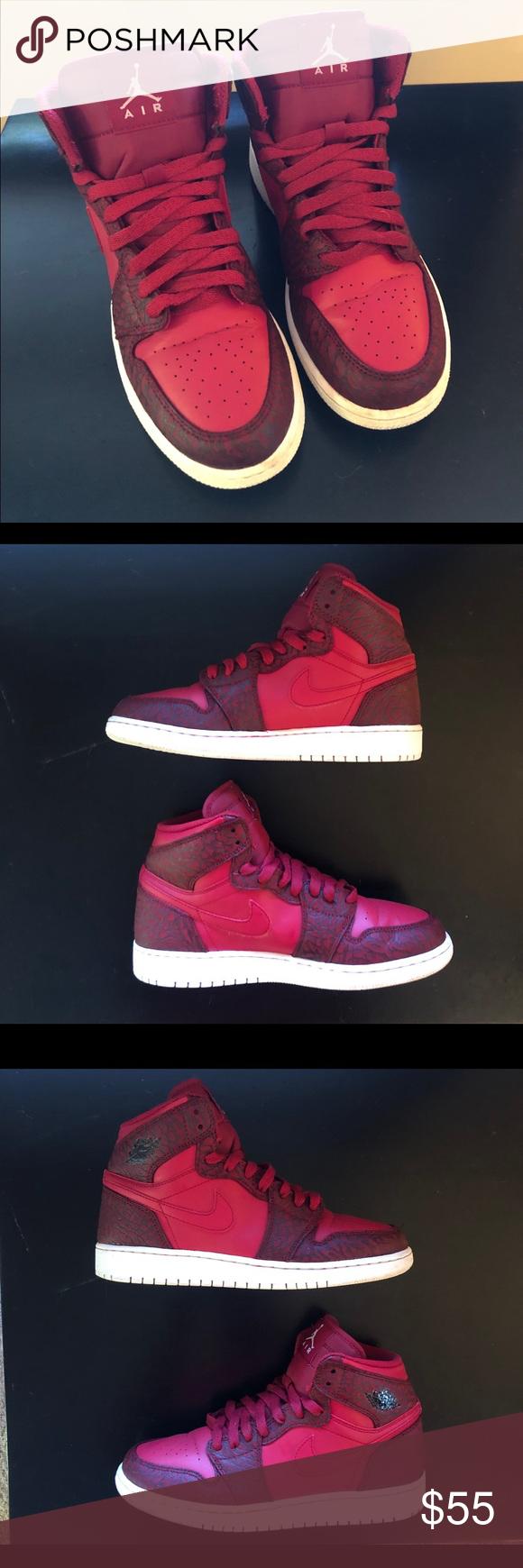 "Jordan 1 Retro Hi ""Red Elephant"", 6Y (6M/7.5W) Nike shoe"