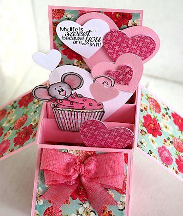 Project Pop Up Card Box Craft Ideas Pop Up Box Cards Box Cards