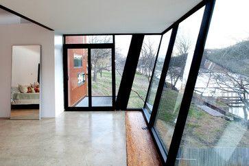Slanted Glass Wall Idea To Consider Austin Homes Home House