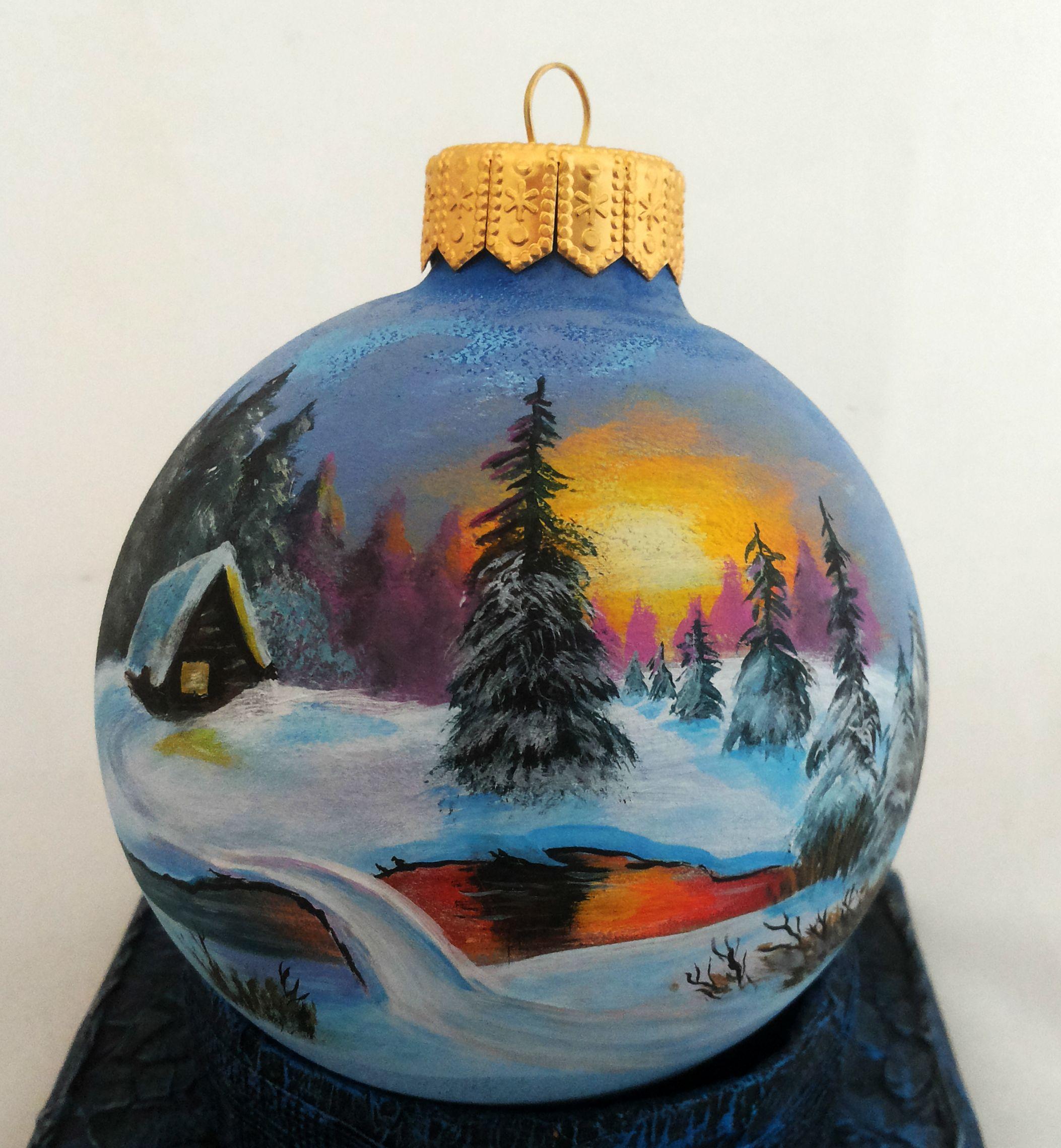 Custom Order Hand Painted Christmas Ornament By Julia Moshack Jan Art Christmas Glass Painted Christmas Ornaments Hand Painted Ornaments Painted Ornaments