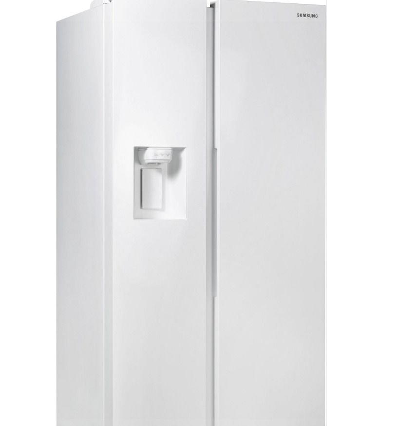 SAMSUNG Side By Side RS68N8231WW Kühlschrank A No Frost 617 L Weiß Crushed  Ice