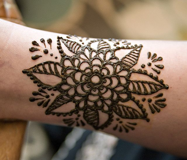 Large Henna Flower Unique Henna Glitter Henna Foot Henna
