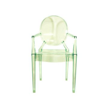 Genial Lou Lou Green Ghost Chair   This Looks Like A Fun Chair For A Patio Or