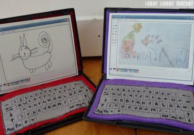 Arztkoffer und Kinder-Laptops in ausgedienten DVD-Hüllen