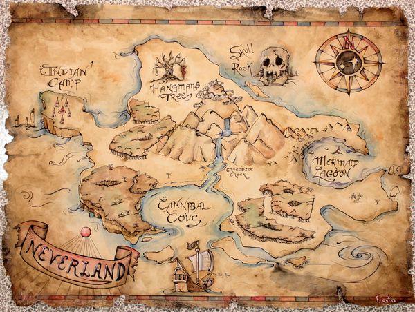 Neverland Map Printable Www Imgkid Com The Image Kid