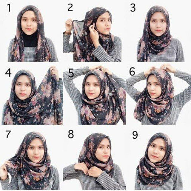 Tutorial Hijab Segi Empat Simple Hijab Tutorial Pinterest Tutorials Hijab Tutorial And