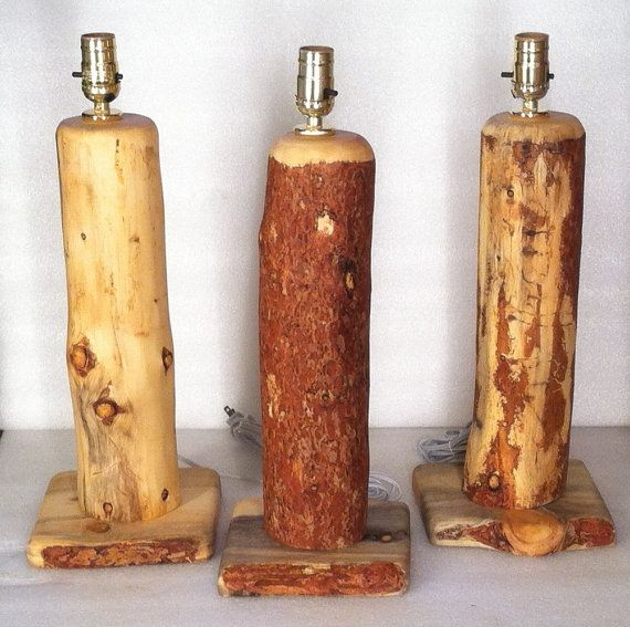 Log Table Lamps Driftwood Lamp Log Table Log Furniture