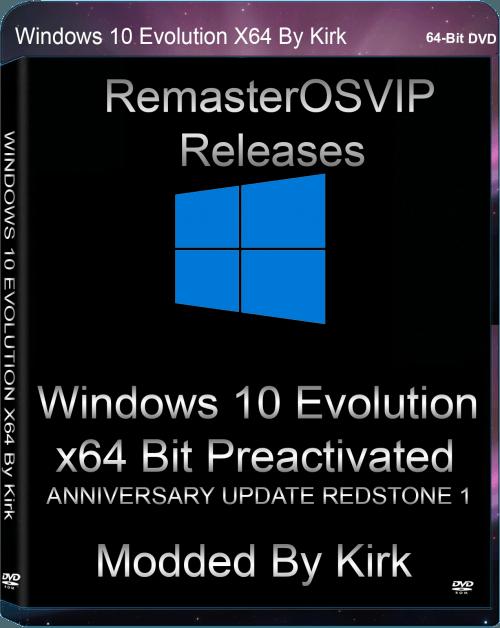 WINDOWS 10 EVOLUTION X64 ANNIVERSARY UPDATE REDSTONE 1 By Mr