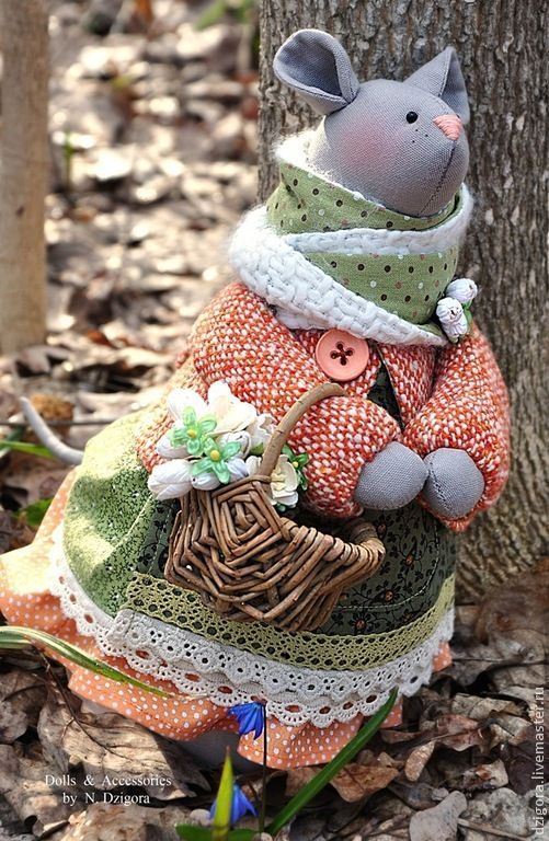 Купить или заказать Зайка текстильная Феличе в интернет-магазине на Ярмарке…