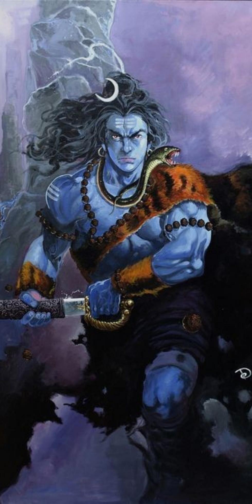 Anger Of Shiv Shiva Angry Lord Shiva Lord Hanuman
