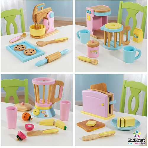 Kidkraft Wooden Play Kitchen kidkraft 4 pack bundle of accessories | play kitchen accessories