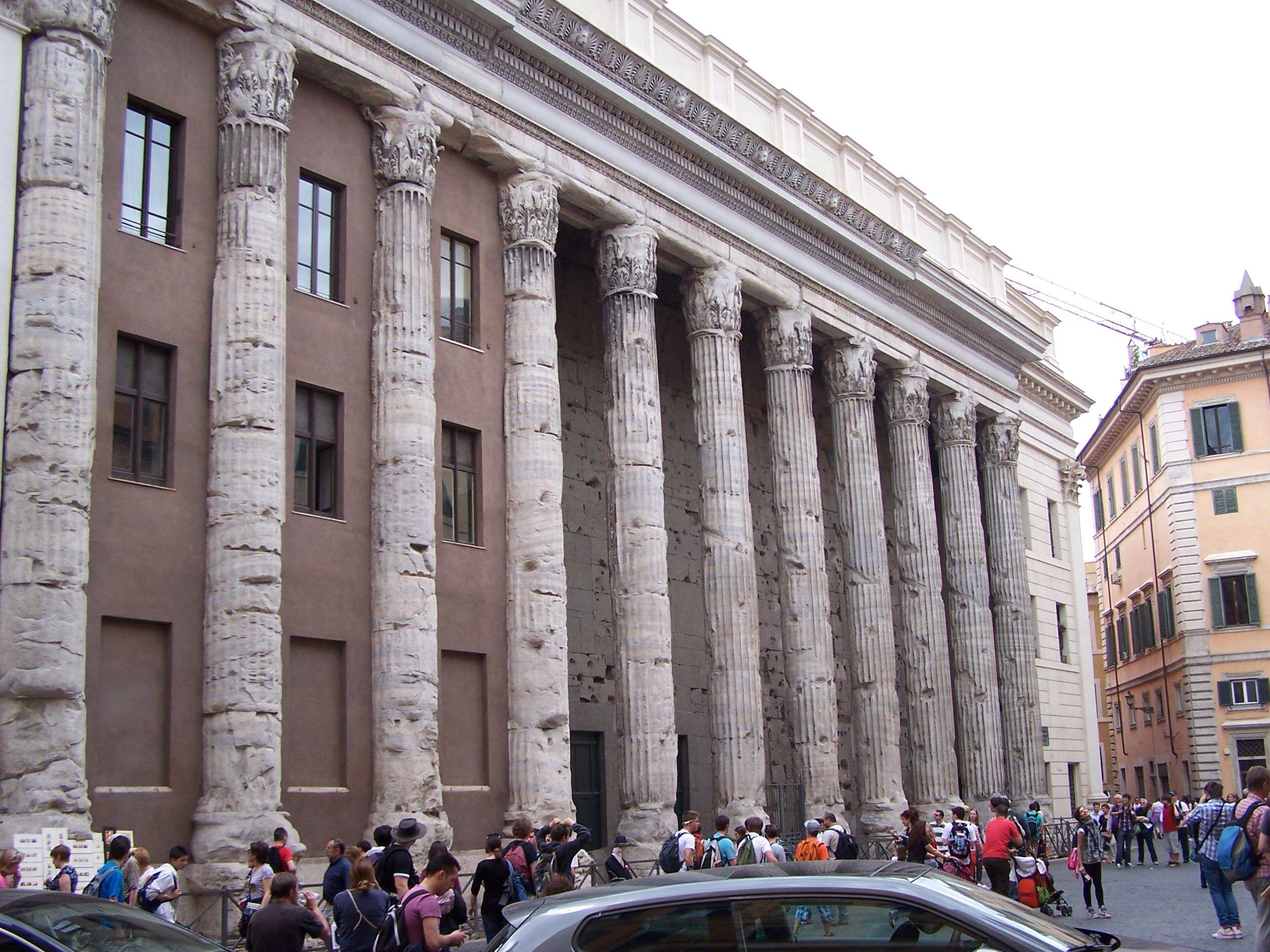 Adrian temple on Piazza di Pietra, Rome