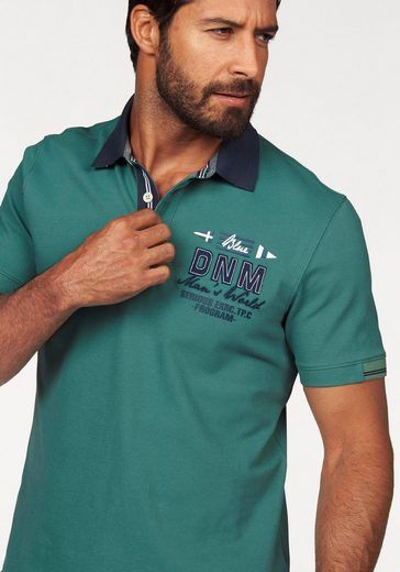 Man S World Poloshirt In Pique Qualitat Mit Kontrastkragen Mens Polo T Shirts Polo T Shirts Mens Polo Shirts