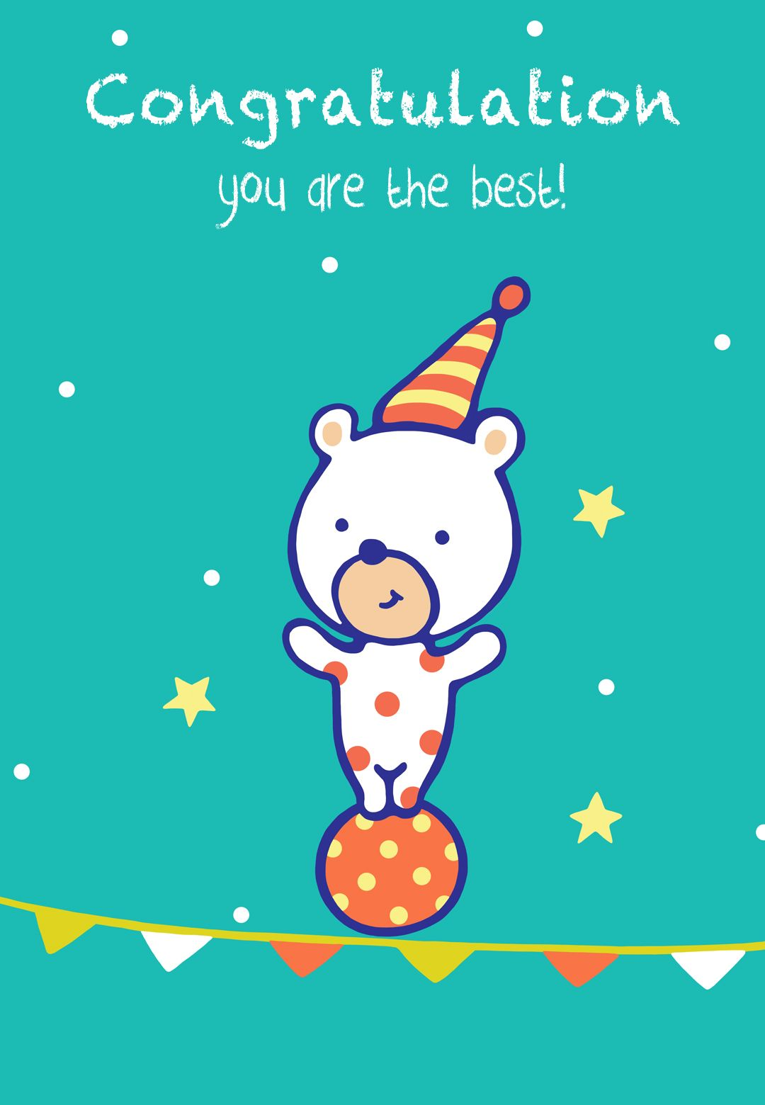 Free Printable Congratulations Bear Greeting Card Littlestar Cindy
