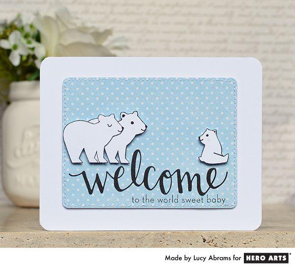 Cards, Baby Bear, Hero Arts Cards