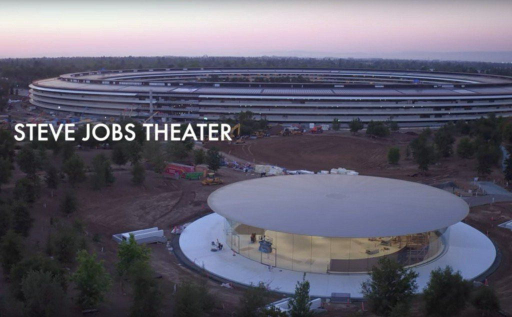 """@ArchDaily : New Drone Footage Captures Finishing Touches Being Applied to Apple's """"Steve Jobs Theater"""" https://t.co/1eh3UZUkfn https://t.co/cBCan0ErH6"""