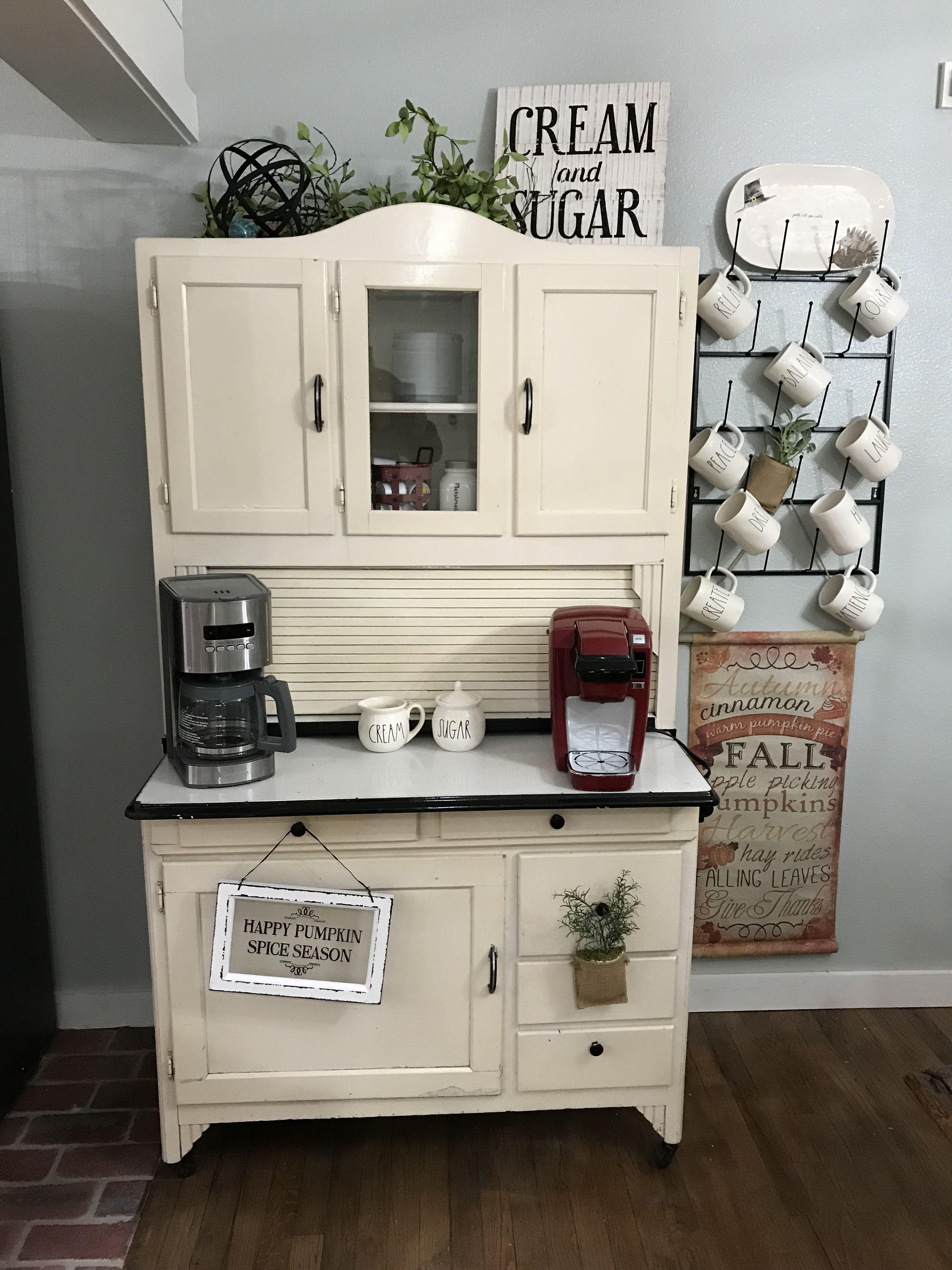 Hoosier Cabinet Coffee Bar Diy Fixer Upper In 2019