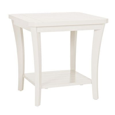 Acacia Home And Garden Magnolia End Table Finish: Classic White