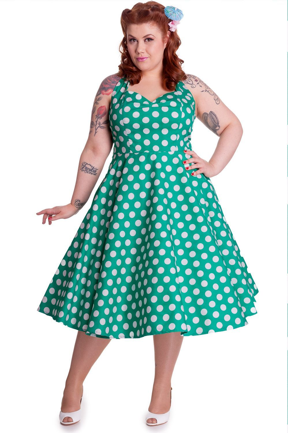 Amazing and gorgeous 60 s style Polka Dot swing dress from Hell Bunny. It  is superb quality vintage style dress and perfect for parties 58477bae96f5