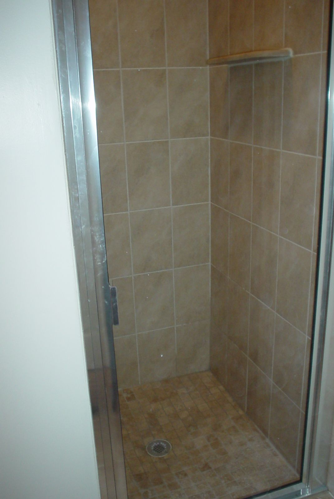 Backwall of the shower