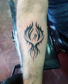 40 Tribal Phoenix Tattoo Designs For Men Mythology Ink Ideas