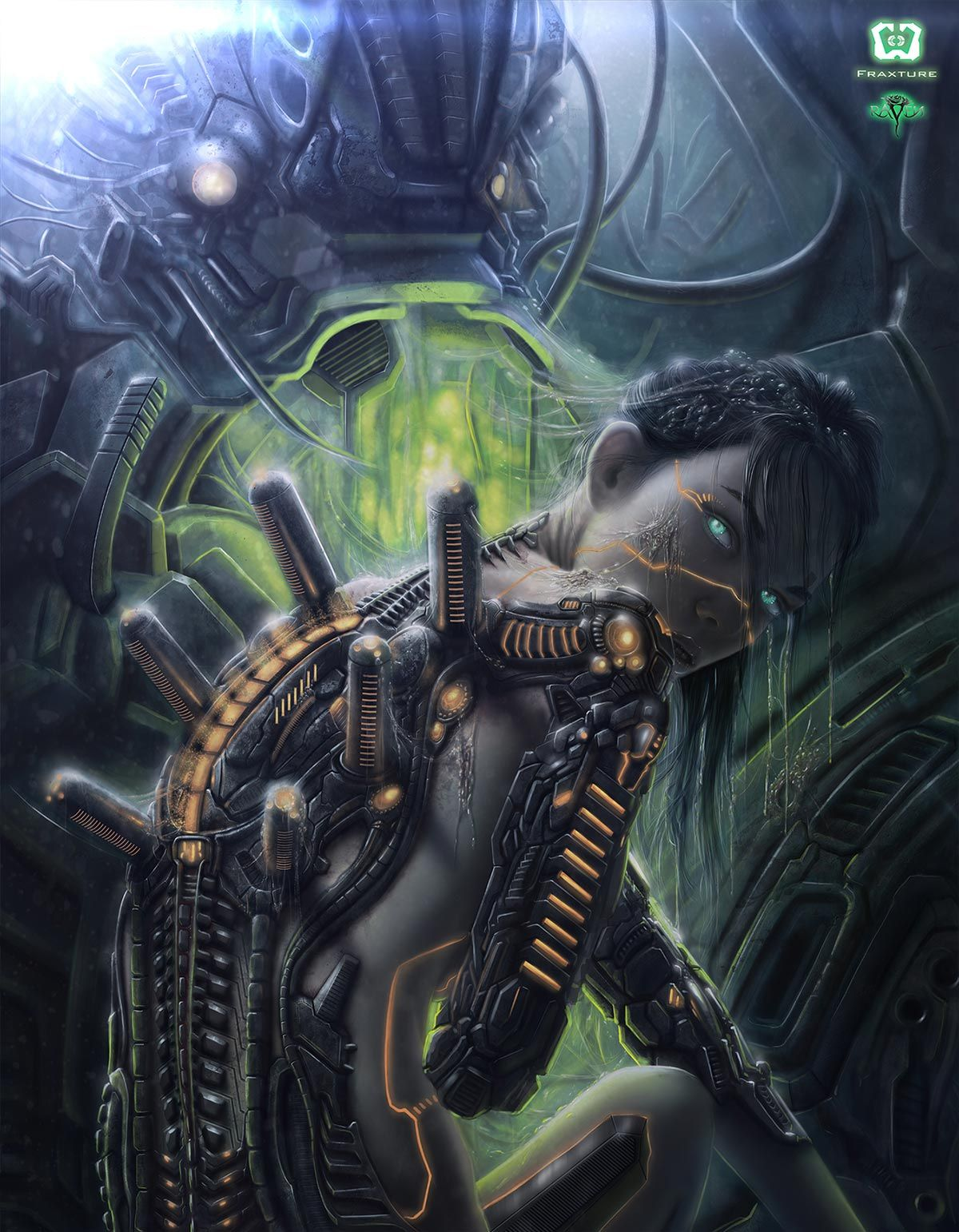 Distorted Perception Sci Fi Fantasy Robot Girl Concept Art
