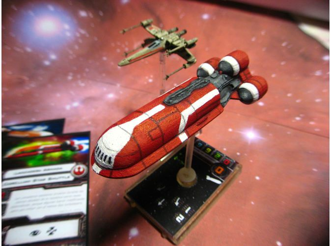 Five Fingers and a Brush: X-Wing - Navette Sénatoriale reçue !