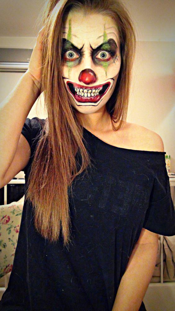 Clown Halloween Makeup Ideas Hhh Halloween Halloween Ideen