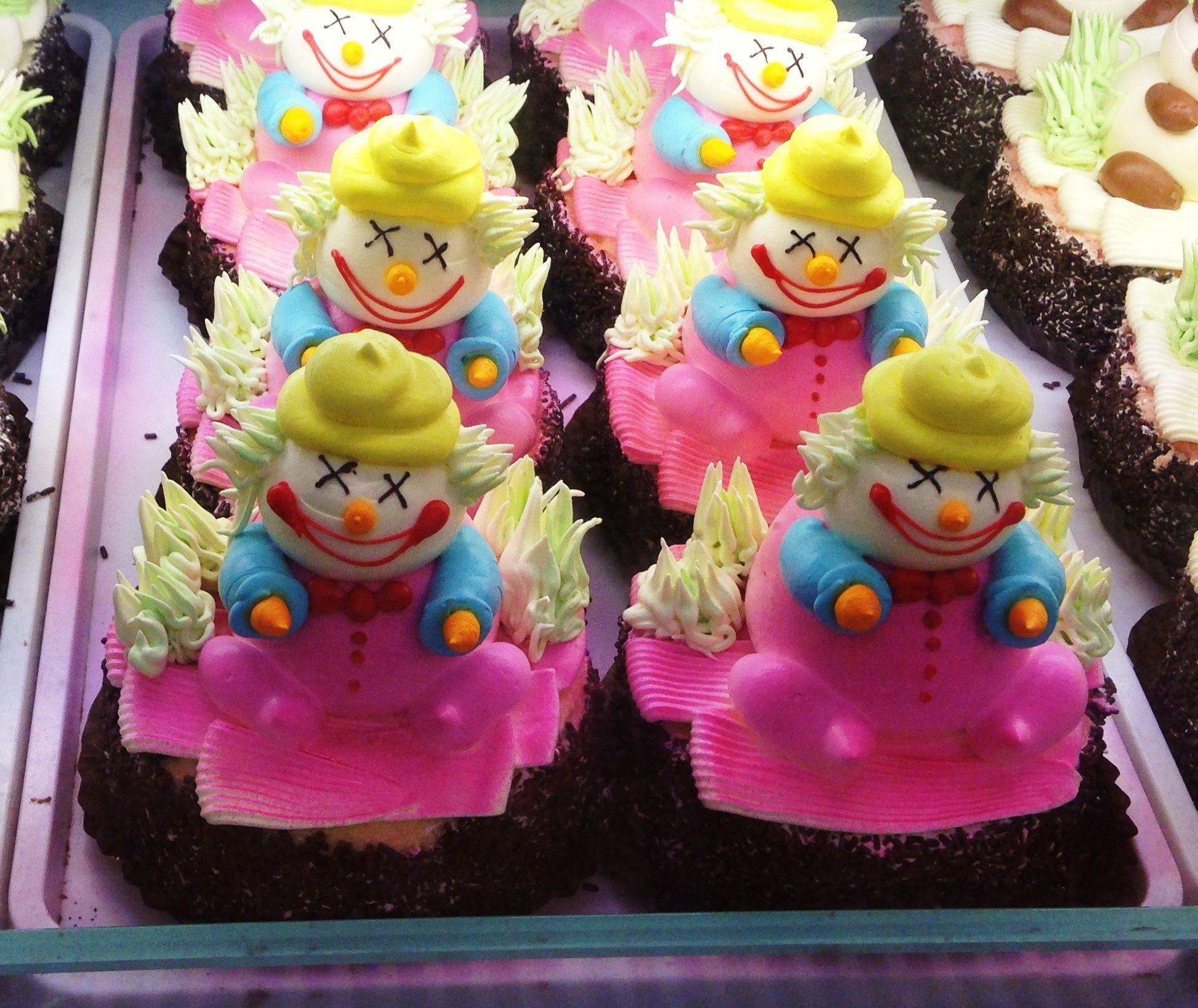 Spooky Clown Cakes in Chinatown, Soho, London Uk | Soap | Pinterest