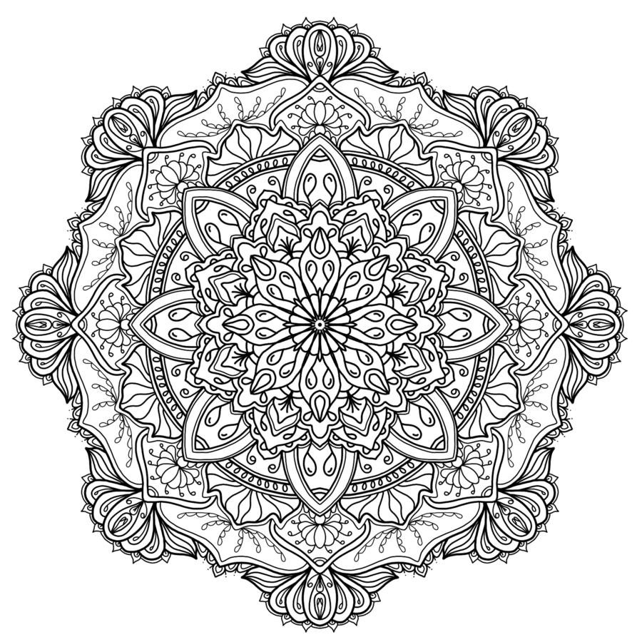 Krita Mandala 15 by WelshPixiedeviantart on