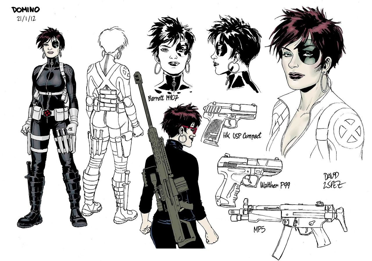 Domino by Daviz Lopez — X-Men character sketches.
