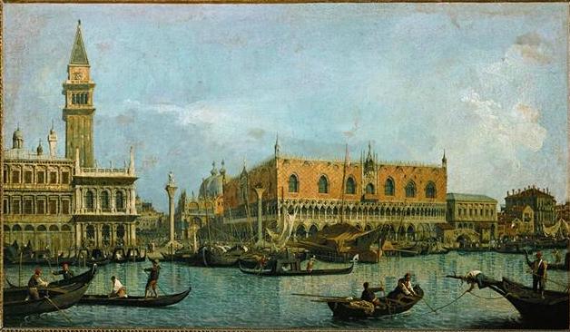 Francesco Guardi (1712-1793). Canal of San Marco with the Plazza San Marco. Oil on canvas. Second half of the 18th century. Musée du Louvre, Paris, France.
