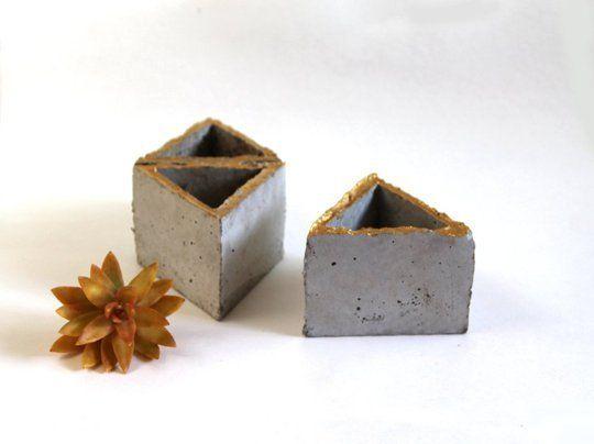 Diy Modular Concrete Planters Concrete Succulent Planters Wall Planter Concrete Planters