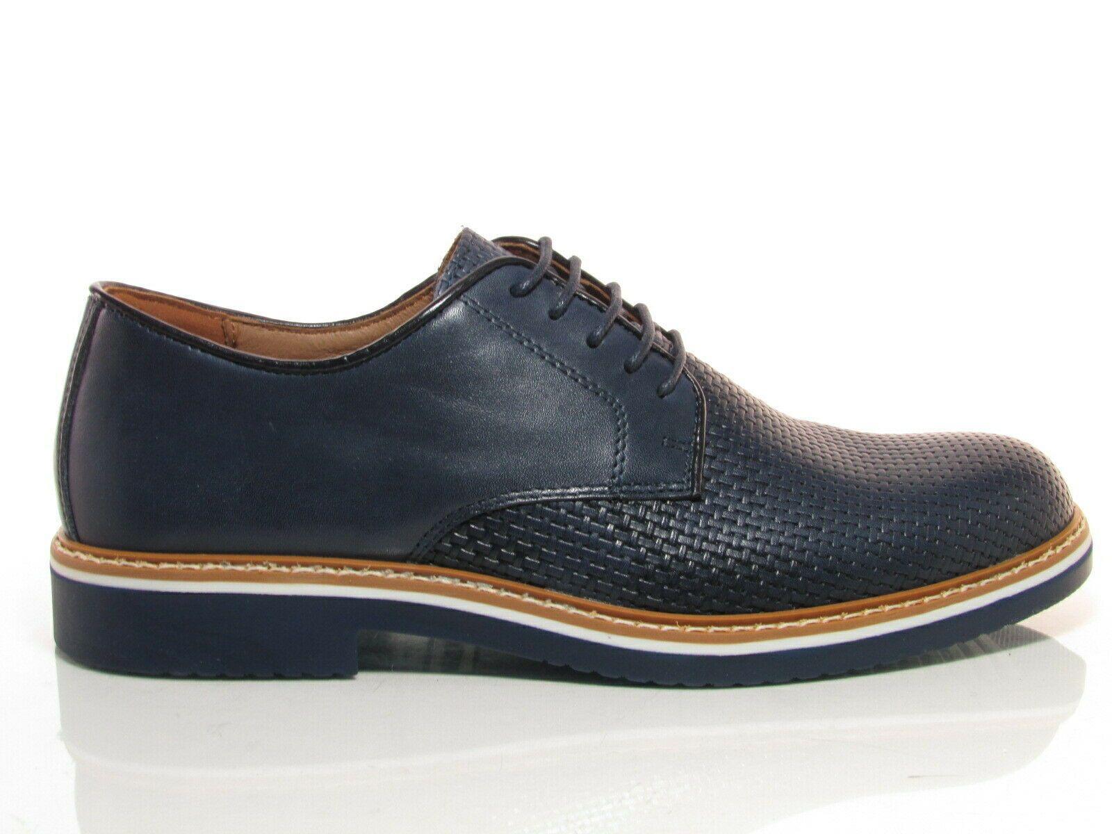 Imac 300620 scarpe uomo casual eleganti francesina pelle blu